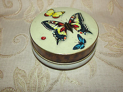 Vintage Collectable '' Butterflies '' Tin
