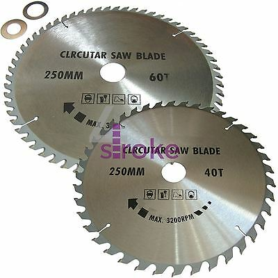 Circular Saw Blades 250mm 40 teeth & 60 medium/fine finish TCT Saw Disc Blades