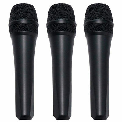 Dynamic Vocal Microphone 3 Pack + Mic Clips 2 Year Warranty DP Stage EM58