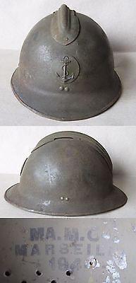French Adrian Helmet Model 1926 M26 / Colonial Navy / Coloniale Marine / Large