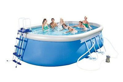 """Bestway Oval Frame Inflatable Pool 12ft x 18ft x 48"""" - 56461"""