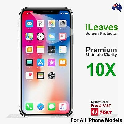 iLeaves Premium PET Film Screen Protector for iPhone Xs Max X 5S SE 6S 7 8 Plus