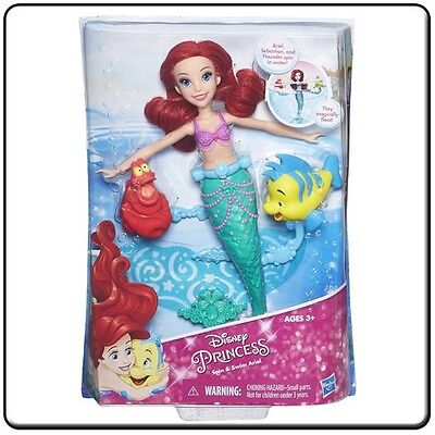 Disney Princess Ariel Spin & Swim Doll With Accessories
