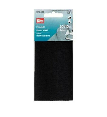 Prym 12 x 45 cm Repair Sheet | cotton for Ironing-On, Black