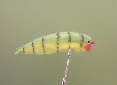 4 Perch Pike Fishing Flies - Free Delivery size 2/0 - Strong hooks