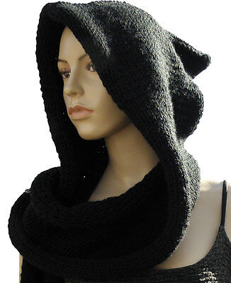 Celtic Hooded Scarf Wrap Knitting Pattern / Instructions from knitwitzuk
