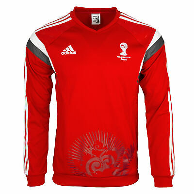 adidas WM 2014 Fussball Herren Warm-Up Trainings Sweatshirt Pullover rot
