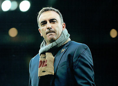 Carlos CARVALHAL Swansea City Manager SIGNED 16x12 Photo A AFTAL Autograph COA