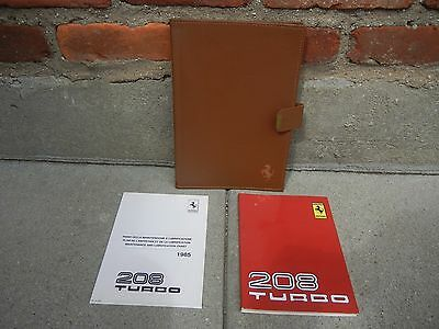 ferrari 208 turbo owners manual set free shipping 1 889 00 rh picclick com 2012 Ferrari FF Parts Manuals 2012 Ferrari FF Parts Manuals