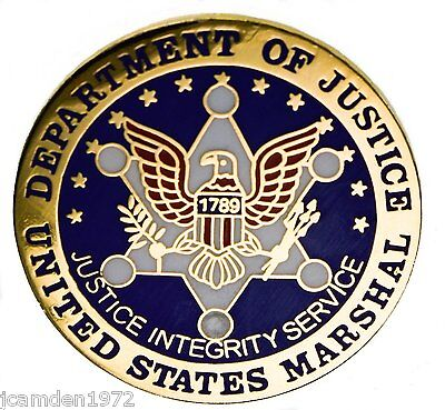 US Department of Justice US Marshal Hat or Lapel Pin H14500D17