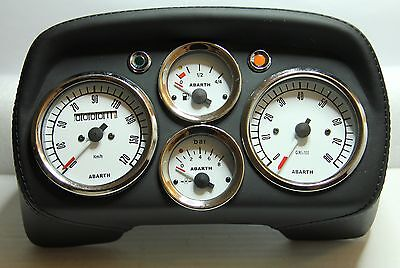 Classic Fiat 500 595 Abarth Speedo Speedometer Dashboard Dials Leather Brand New