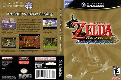 Legend of Zelda The Wind Waker Nintendo GameCube COMPLETE Case Manual +Game Disc