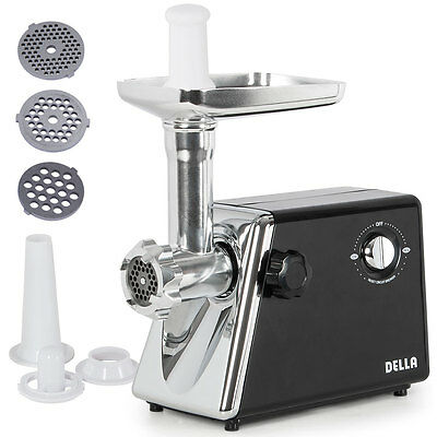 1300W Electric Meat Grinder Stainless Steel Sausage Kubbe Attachment w/ 3 Blade