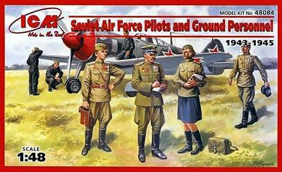 ICM 48084 Soviet Air Force Pilots and ground personnel 1:48