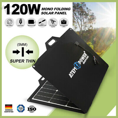 200W Folding Solar Panel Blanket Kit Battery Charge With Regulator Cables DC 12V