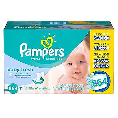 Pampers, Baby Fresh Baby Wipes, 864-Count