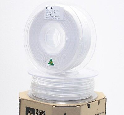 Aurarum 3D printer PETG PET-G filament White 1.75 mm made in OZ