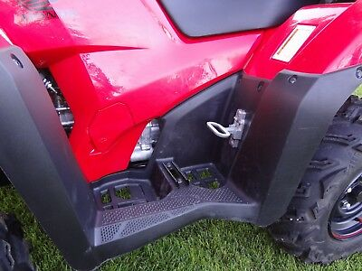 Universal ATV passenger fold up flip down foot rest foot pegs.