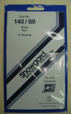 Showgard size 140/89  black hingeless stamp mount NEW unopened pack 1st quality