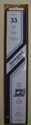 Showgard size 33 black hingeless stamp mount NEW unopened pack 1st quality 215mm