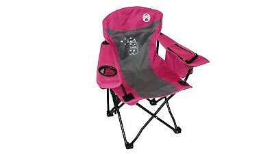 Coleman Fyrefly Illumi-bug Kids Quad Camping Chair with Mesh Drink Holder - Pink