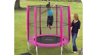 Plum Trampoline Enclosure Combo with Durable Steel Frame and Foam Pads- 6ft-Pink