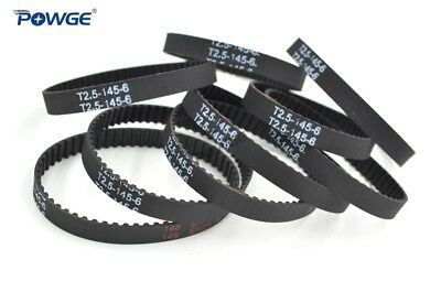 Trapezoid T2.5 Synchronous Timing belt 105/120/130/145/150/155/160mm Width 6mm