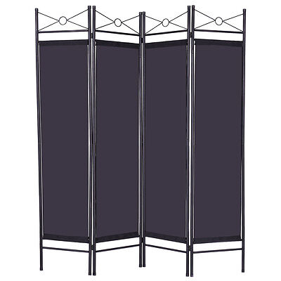 Folding 4 Panel Room Divider Screen Privacy SHOJI Movable Partition Separator