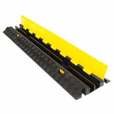 KKM 2 Channel Cable Ramp Guard Protector Heavy Duty Rubber 1 Meter