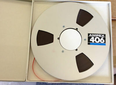 "Ampex 406 Reel-to-Reel Tape. New Style. 1/4"" - 10.5"" Reels."