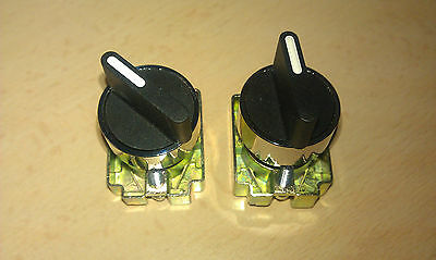 2 & 3 Position Stay Put 22mm Selector Switch with normally open contacts