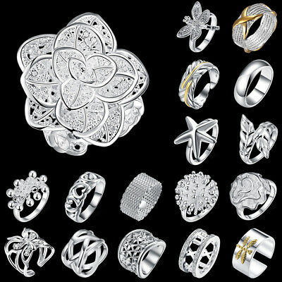 Wholesale Jewellery Solid 925 Sterling Silver Jewelry Fashion Open Ring Gifts