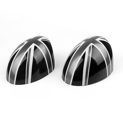 2 x Union Jack WING Mirror Covers F MINI Cooper R55 R56 R60 Power Fold Mirror B2