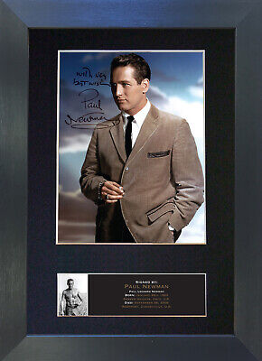 PAUL NEWMAN Signed Mounted Autograph Photo Prints A4 522