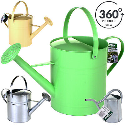 9L Watering Can Metal Galvanised Indoor Outdoor Garden Plants 3 Colours Inc Rose