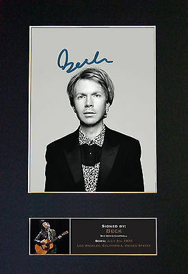 BECK Signed Mounted Autograph Photo Prints A4 514