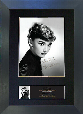 AUDREY HEPBURN Signed Mounted Autograph Photo Prints A4 513