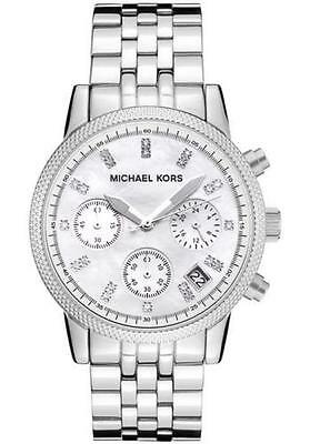 Michael Kors MK5020 Ladies Ritz Silver Tone Camille Chronograph Watch