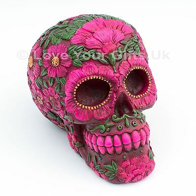 Sugar Blossom Skull 10cm High Day of the Dead Nemesis Now