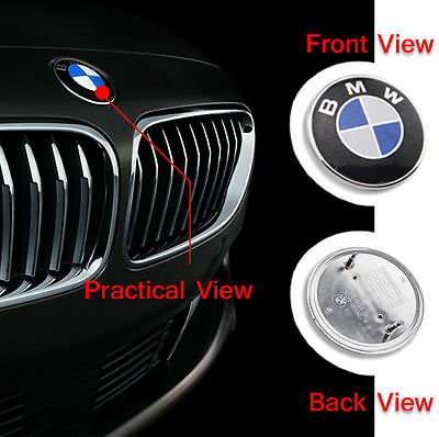 BMW-Front-Hood-Or-Rear-Trunk-Emblem-Logo-Badge-82MM-Roundel