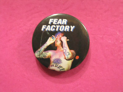 "Fear Factory Vintage 1"" Badge  Button Pin Uk  Import"