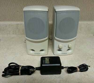 CAMBRIDGE SOUNDWORKS MULTIMEDIA COMPUTER SPEAKER SBS52 power adapter included 4A