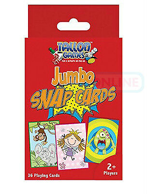 Jumbo Snap Playing Cards Games Children Kids Toys Activity 36 Cards Fun