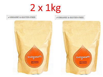 2 x 1kg LOVING EARTH Raw Organic Maca Powder  ( total 2kg )