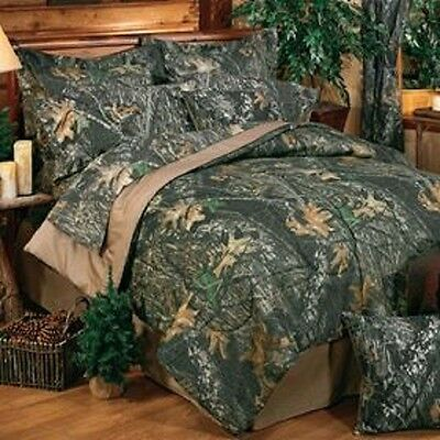 Mossy Oak New Break Up Camo 4 Pc King Comforter Set - Great for Cabin or Lodge!