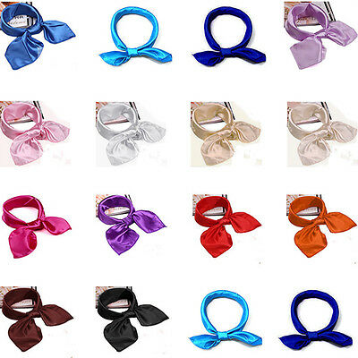 Stylish Women Soft Silk Scarf Satin Square Scarves Neckerchief Neck Headband