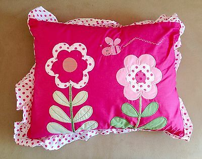 "Nwt "" Kids Room Flower Bug "" Bed Cushion - Great For Nursery"