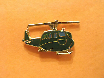 Helicopter Small Vintage Lapel Pin Plane Aircraft Military Uk Import