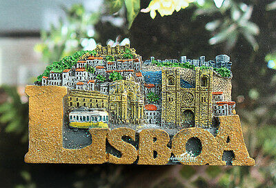 Portugal LISBOA Lisbon Tourist Travel Souvenir 3D Resin Fridge Magnet Craft