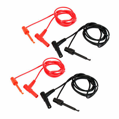 Banana to Test Hook Clip Probe Cable 4PCS for Multimeter Test Equipment